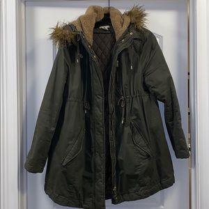 H&M Mama maternity parka green army large jacket